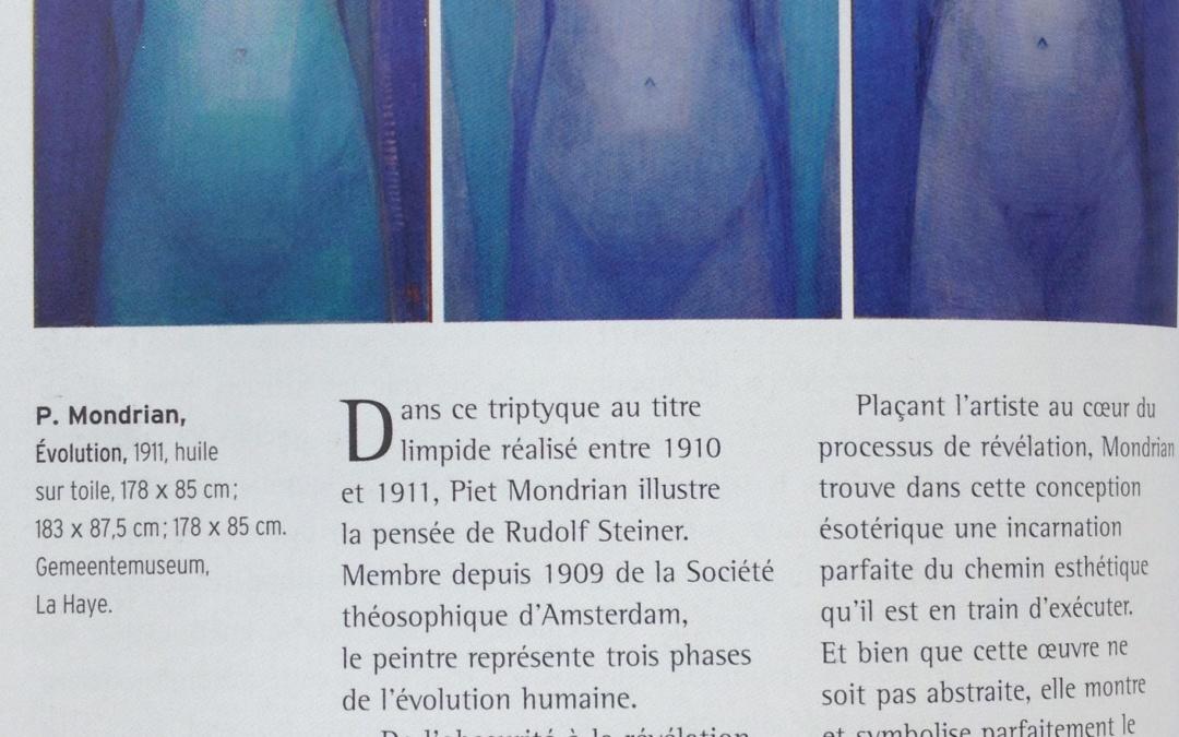 Tableau Mondrian sur la voie de la spiritualité 1911